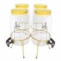 Suqueira Quadrupla Com 4 De 3 Litro Amarela Melhor Que Vidro
