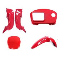 Carenagem Honda Pop 100 - 2009 A 2011 Vermelha S / Adesivo