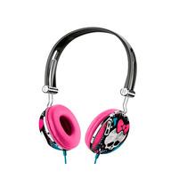 Fone Ouvido Headphone Monster High Preto Menina Multilaser