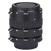 Set Tubos Extension Phottix P/ Lentes Nikon Af P/ Foto Macro