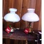 Luminária Abajur Rustico Bronze Vidro Leitoso Pequeno - Uy00