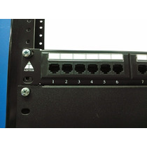 Patch Panel Cat6 Cert Ul Adtek 24 Puertos Patchpanel