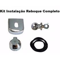 Kit Reboque Engate Bola Capa Tomada Fio Cromado Universal