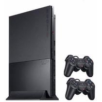 Console Sony Playstation 2 Slim Preto Desbloqueado Novo!!!