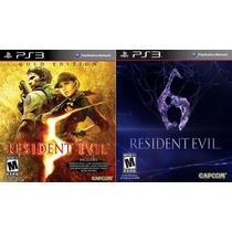 Resident Evil 5 Gold + Resident Evil 6 Português Ps3
