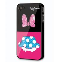 Minnie Caratula Cristalitos Iphone 4g / 4s No. 1