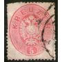 Austria Antiguo Sello Usado Escudo De Armas X 5 K. Año 1863