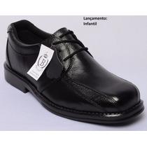 Sapato Social Masculino, Infantil, 100% Couro, Confortável