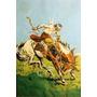 Gauchos - Enrique Castells - Jineteada - Lámina 45x30 Cm.