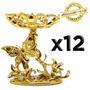 Kit 12 Taças Douradas Borboleta Lembrancinha Festa Decoração