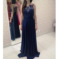 Vestido Azul Marinho/madrinha/formatura/casamento/p Entrega