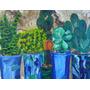 Cuadro Arte A Mano En Óleo Color Plantas Naturaleza Macetas
