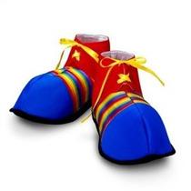 Zapatos Del Payaso Jumbo Rainbow Stripes Traje De Halloween