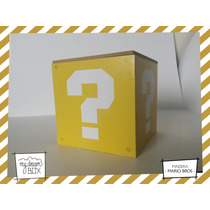 Caja Personalizada Madera 9cm2 Souvenir Signo Pregunta