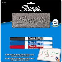 Kit Pincel Quadro Branco Fine(1az/1pt/1vm/1apg) Sharpie