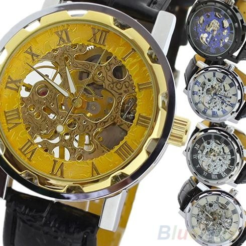 e140ad1e4b03 Reloj Automatico Mecanico Tipo Skeleton Este No Usa Pila -   459.99 en  Mercado Libre