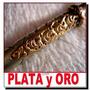 Plata Y Oro Bombilla Antigua 22 Cent Impecable