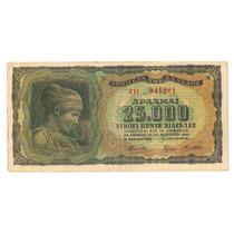 Grecia Billete De 25.000 Dracmas 1943 2º Guerra Mundial