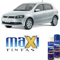 Tinta Spray Automotiva Prata Reflex Vw + Verniz 300ml