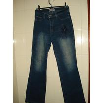 Calça Jeans C/ Bordados Da Shyro
