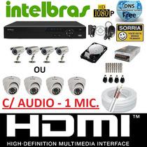 Kit 4 Cameras Infravermelho Dvr 4 Canais Intelbras 1004 G2 !