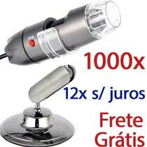 Microscópio Digital Usb 20x À 1000x Hd Frete Grátis Envio Já