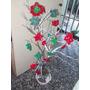 Árbol De Navidad Artesanal Con Flores Hermosas Tejidas .