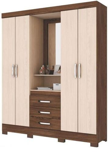 Mueble placard ropero con espejo armado gratis for Mueble con espejo