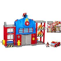 Casa Transformers Rescue Bots Playskool Heroes Fire Stati