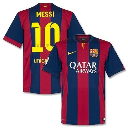 Camiseta Barcelona Fc Local 2014-2015 Estampada Messi - Bs. 0 e1f4d96e559