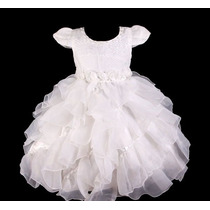 Vestido Infantil Festa / Casamento / Princesa Babados