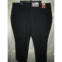 Pantalones Jeans Plus Negro Talla 26w Extragrande P Gorditas