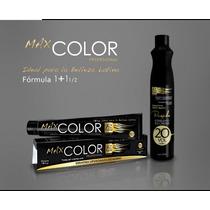 Lote De 10 Tintes Profesional Max Color 90g Con Peroxido