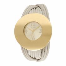 Relógio Euro Couro Bege Areia Eu2035ow Promocão