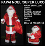 Roupa Papai Noel Veludo Profissional Luxo Completa 11 Itens