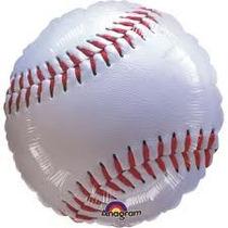 Globo Metalizado Pelota De Beisball 18 Pulgadas 46 Cms
