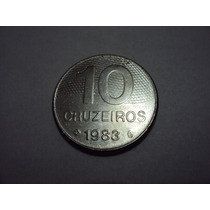 Moeda Brasileira Antiga - 10 Cruzeiros 1983