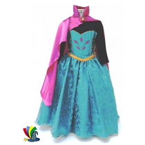 Disfraz Vestido Elsa Frozen Coronacion Modelo Disney