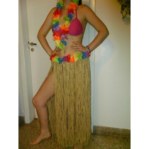 Pollera Hawaiana Con Collar Disfraz