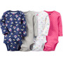 Pack De 4 Bodys Carters Nena Made In Usa Talle Rn(3,5kg)