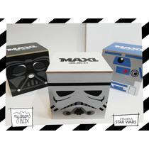 Souvenir Caja Personalizada Madera 7cm2 Star Wars Soldado