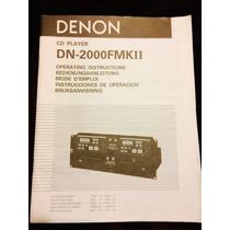 Denon Dn-2000f Mkii Manual Original