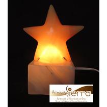 Lámpara Estrella De Onix, 15 Cm. Altura