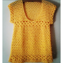 Tejidos Artesanales A Crochet: Remera Hippie Style!