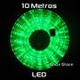 Manguera 10 M Luz Led Verde Con Trasformador Y 8 Efectos