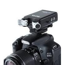 Microfone Duplo P/ Camera Nikon Boya Sm80 Profissional Dslr