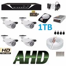 Kit 4 Cameras Ahd Hdcvi 1.3mp Hd Dvr 4 Canais Sup. Luxvision