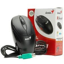 Mouse Optico Genius Ps2 Negro Al Mejor Precio!!