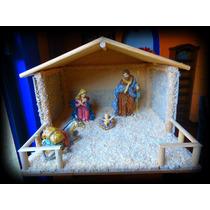 Casa Para Nacimiento Navideño, Pecebre, Establo