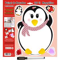 Lousa De Recado Imã Pinguina Painel Para Geladeira